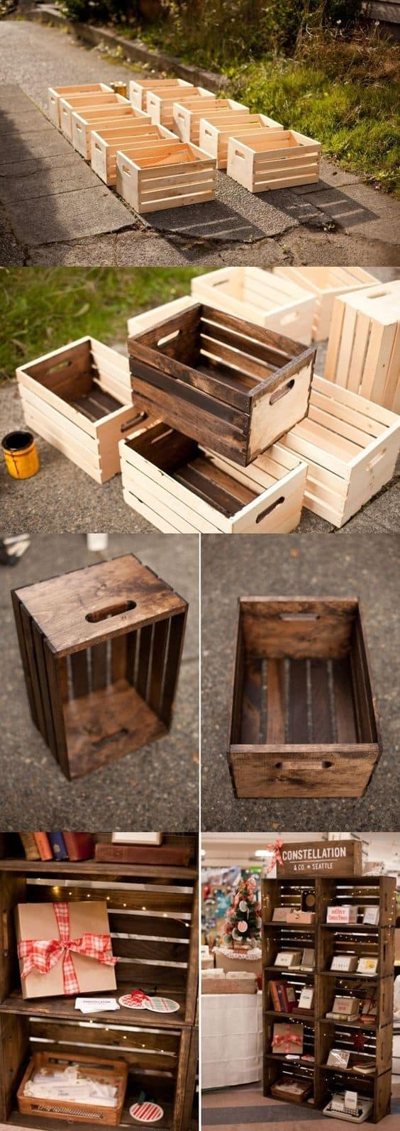 Scale wooden boxes into a timeless piece