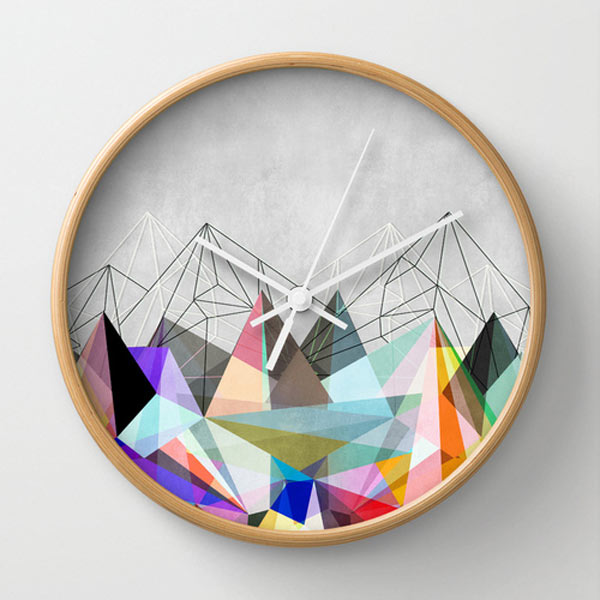 colorful-modern-graphic-mountains-clock