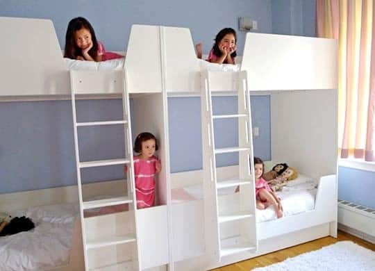 15. Double bunk beds for big happy families