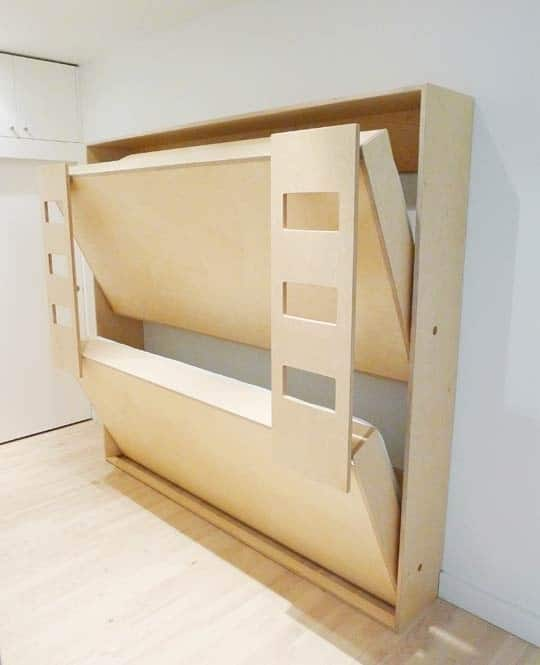 14. Space saving idea provides a bunk bed option