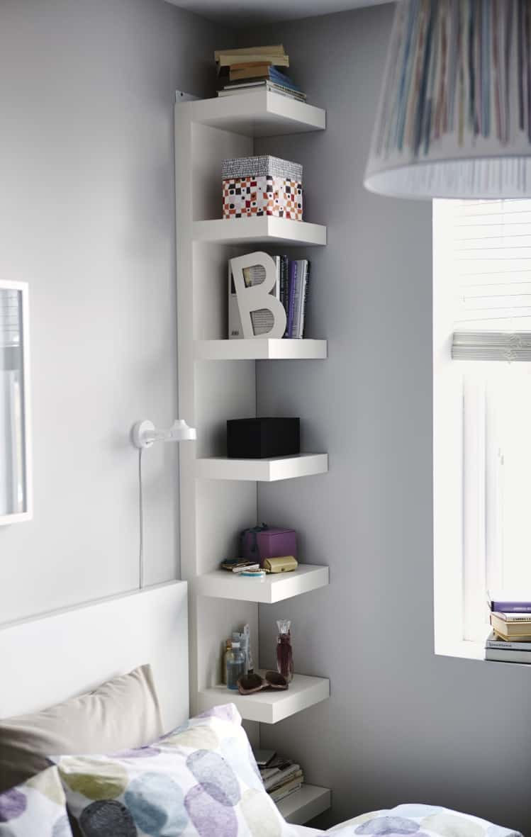 IKEA FLOATING OPEN SHELVING NIGHTSTAND