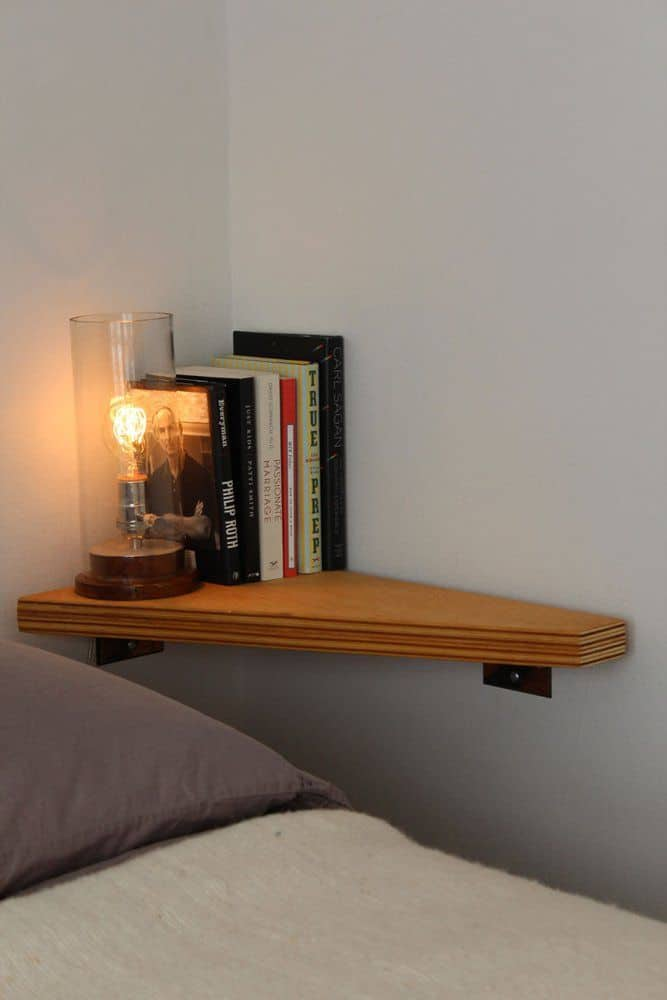 Small Bedroom Tiny E For Nightstand Corner Shelves