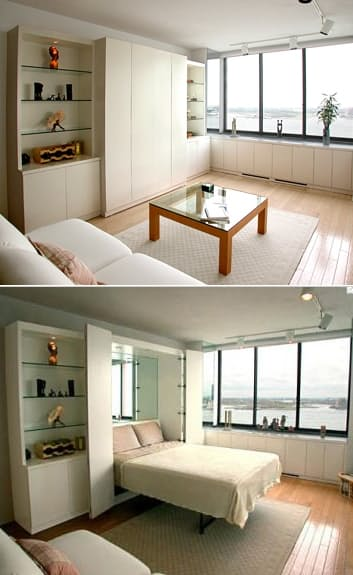 10. Use the living room as a guests bedroom