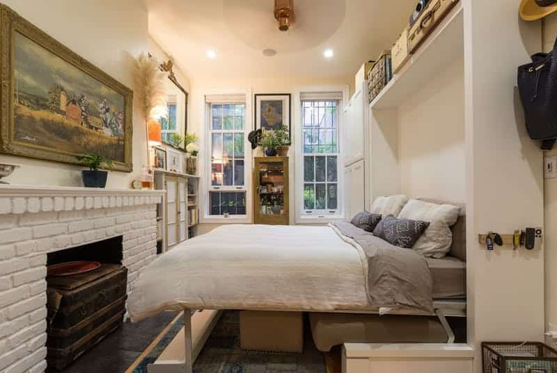 1. Use a murphy bed in a narrow room