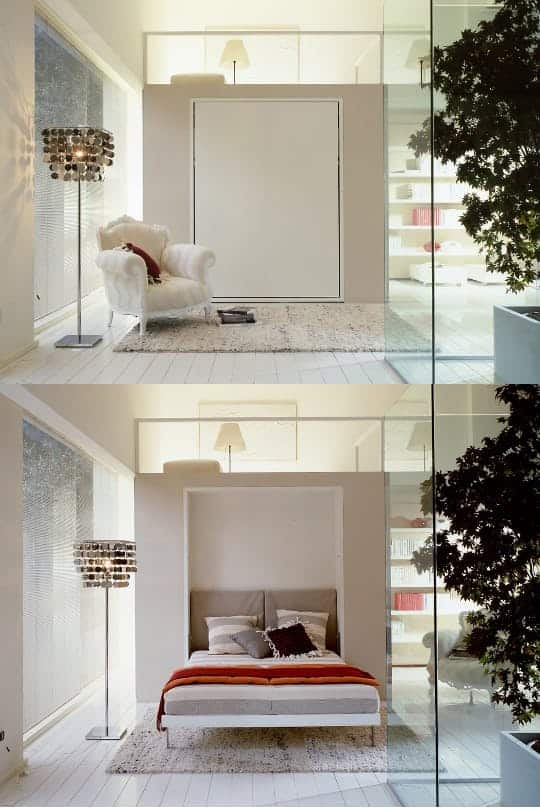 4. Hide the bed when entertaining