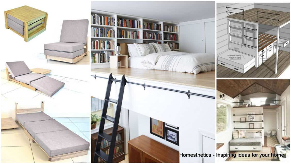 15 creative small beds ideas for small spaces for Home arrangement ideas for small space