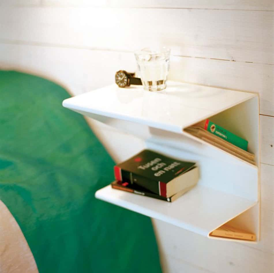SCULPTURAL GEOMETRIC WHITE -modern-nightstand
