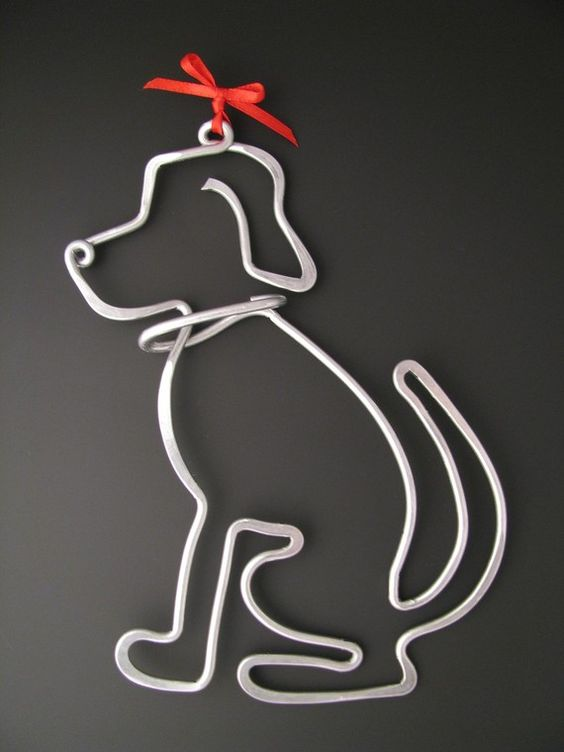 11. SHAPE A TINY DOG DECORATION