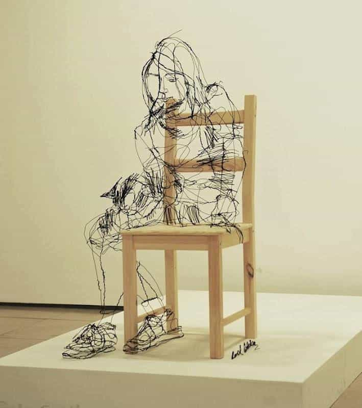 43 Wire Art Sculptures Ready to Emphasize Your Space ...