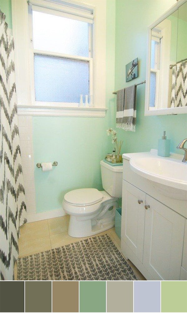 111 World`s Best Bathroom Color Schemes For Your Home - Homesthetics ...