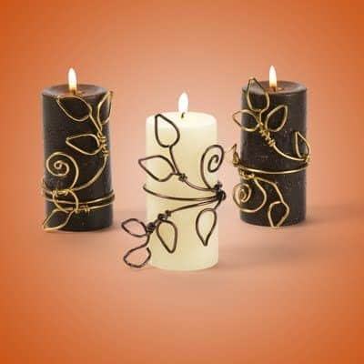 22. CREATE DECORATIONS FOR CANDLES