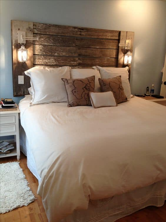 Invite Lanterns On Your Rustic Headboard