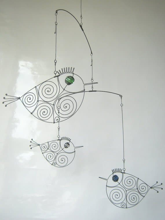 33. DESIGN A SCULPTURAL BIRD MOBILE