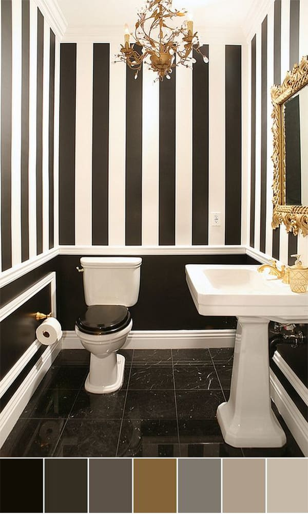 Elegant, Noble And Intense Ambiance Obtained Through High End Black And  White Materials Embellished By Golden Accents.