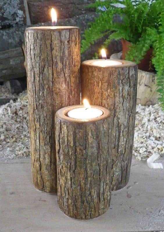 7. TREE LOGS AND CANDLES