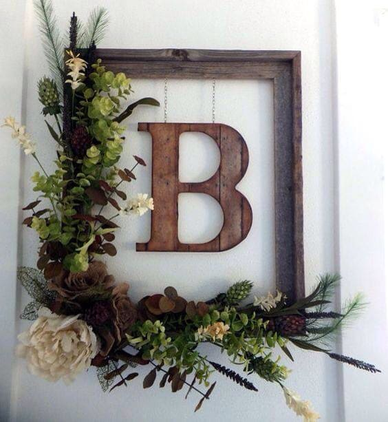 Beautiful-rustic-floral-monogram
