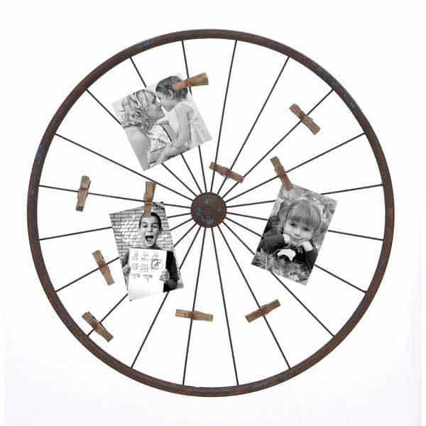 28. RE-PURPOSE A WHEEL AND ENHANCE IT WITH MEMORIES