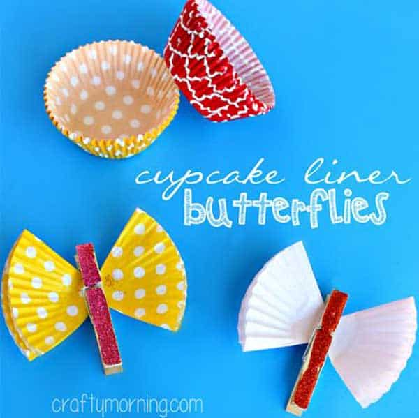 30. FLY AROUND WITH CLOTHESPIN BUTTERFLIES