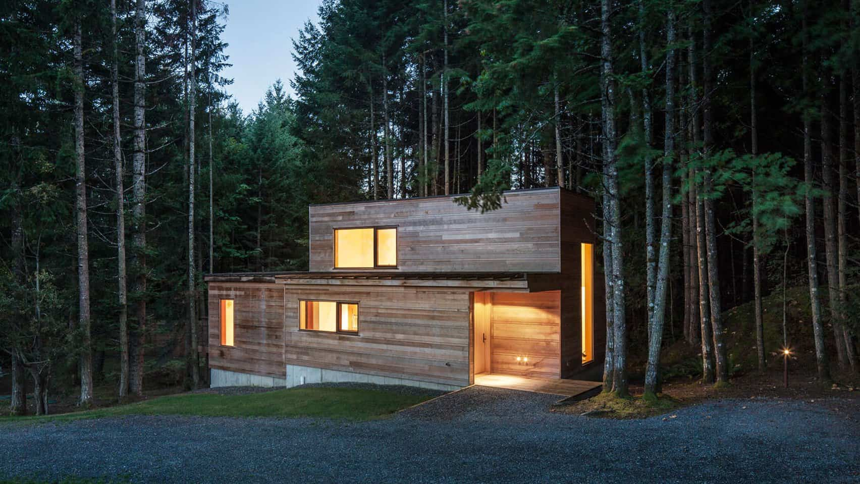 Dense British Columbia Forest Nestles Artists House By