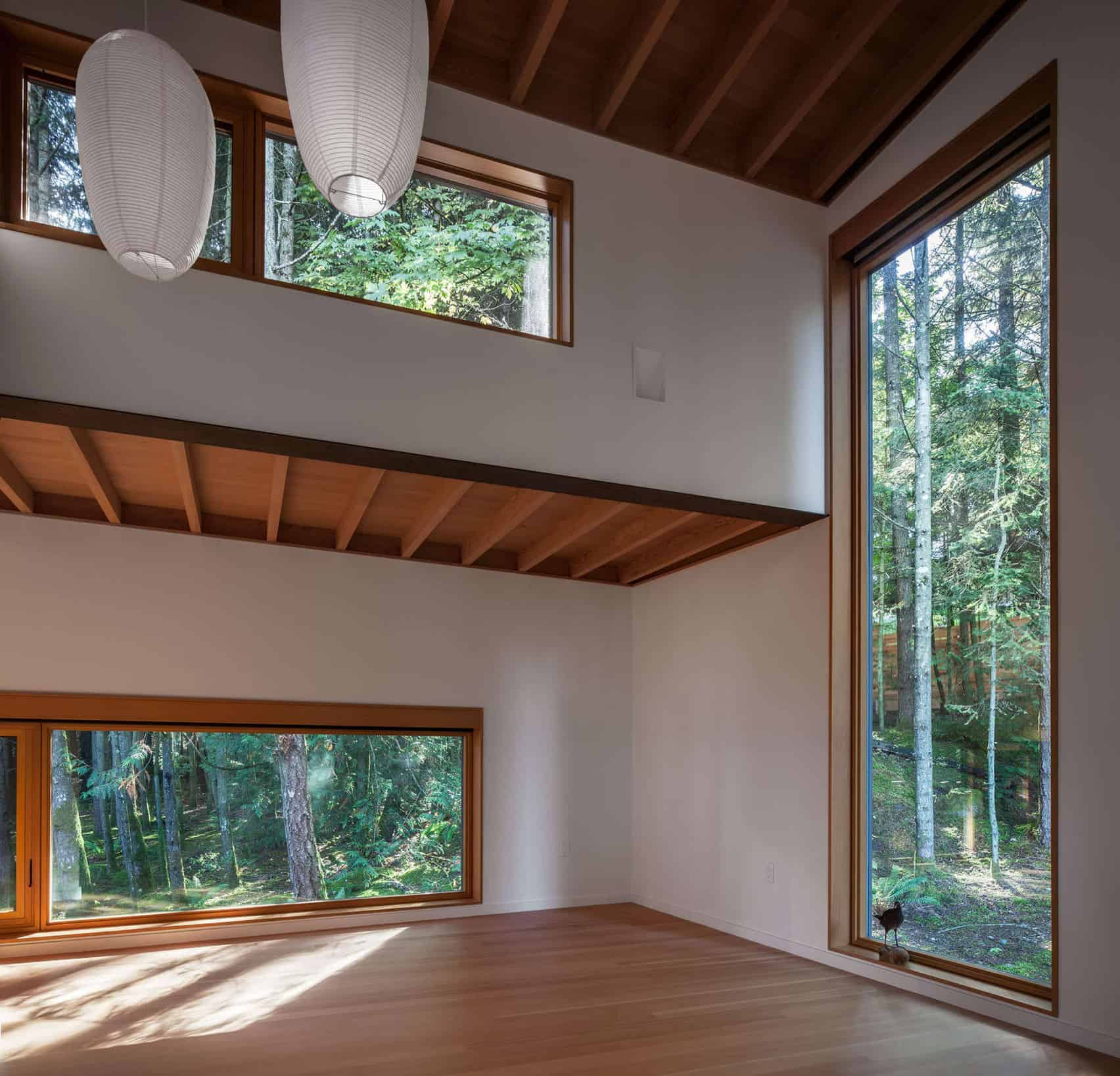 Dense British Columbia Forest Nestles Artist`s House by Agathom (3)