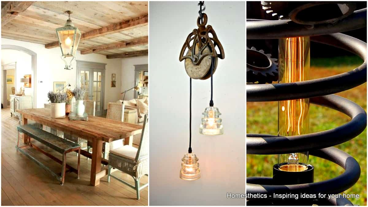pallet ceiling ideas - 23 Shattering Beautiful DIY Rustic Lighting Fixtures to