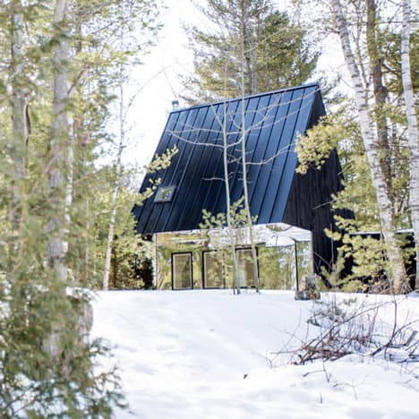 UUfie Designs Surreal Lake Cottage With Mirrored Entrance (12)