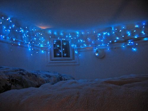 bluer hue for soothing effect - Christmas Lights Room