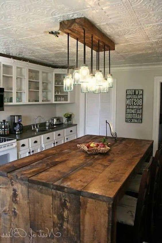 cheap rustic lighting. 6. Mason Jars And Wood Cheap Rustic Lighting
