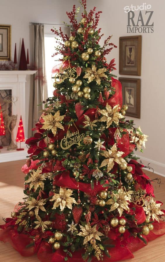 source - White And Gold Christmas Tree Decorations