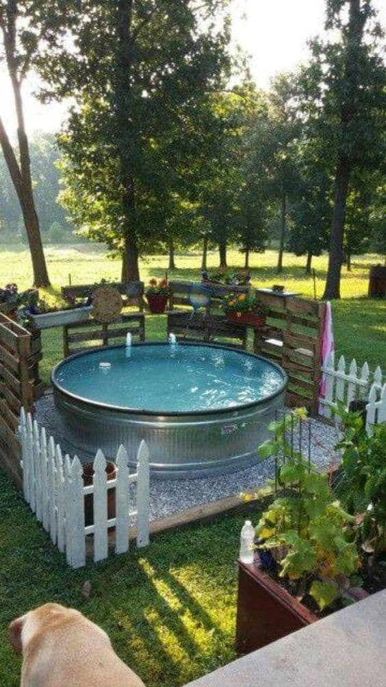 Beautiful Metal Outdoor Jacuzzi For The Young And Old