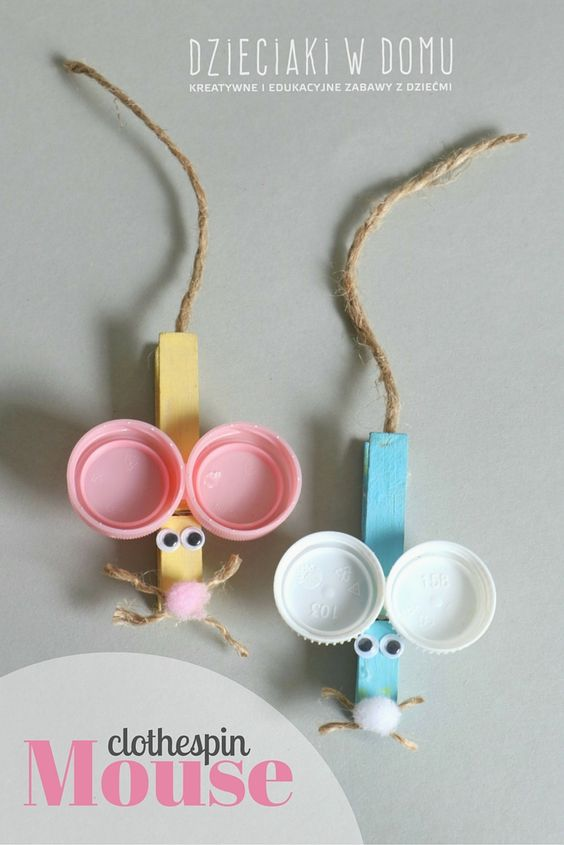 6. CRAFT A CLOTHESPIN MOUSE