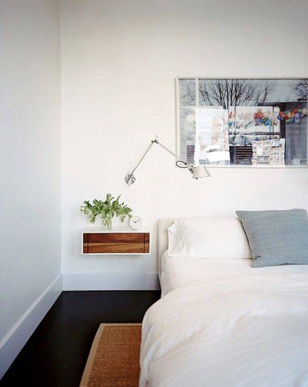 Clever Nightstand Alternatives For Small Es White Bedroom