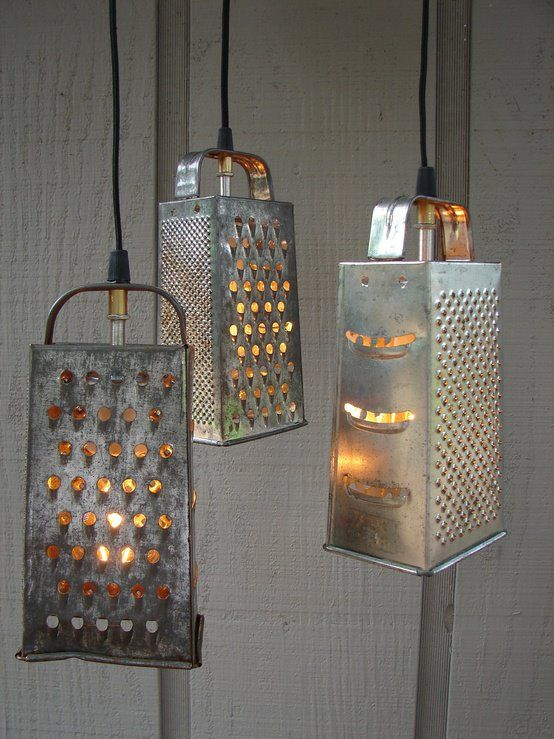 5. RECYCLE GRATERS INTO LIGHT FILTERS