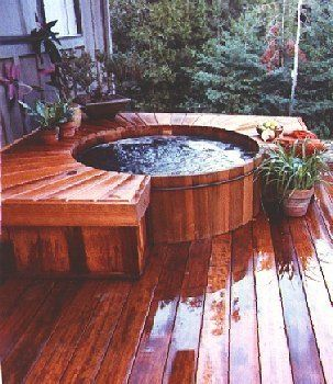 JApanese Inspired Outdoor Jacuzzi
