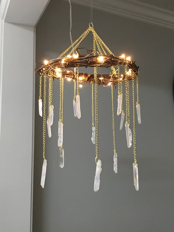 17. CRAFT A BOHEMIAN RUSTIC CHANDELIER