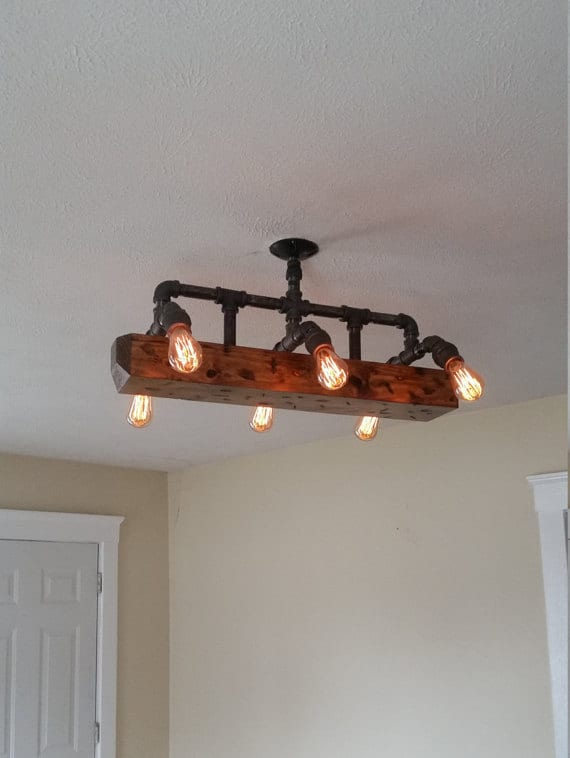 Rustic Track Lighting Kitchen