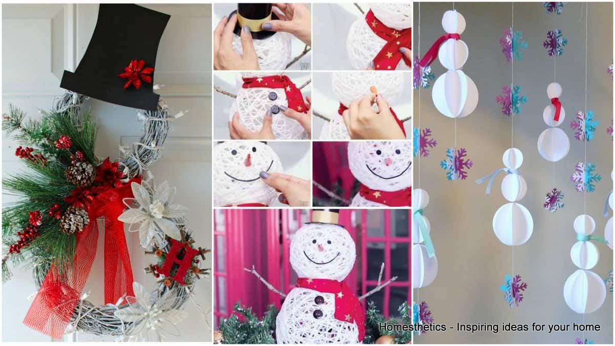 Snowman Decorations That Will Bring The Fun And Beauty In Your Home Homesthetics Inspiring Ideas For Your Home
