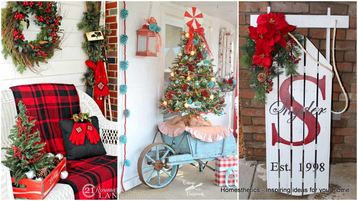 23 enchanting outdoor christmas decoration ideas for your home - Outdoor Christmas Decorating Ideas Pictures