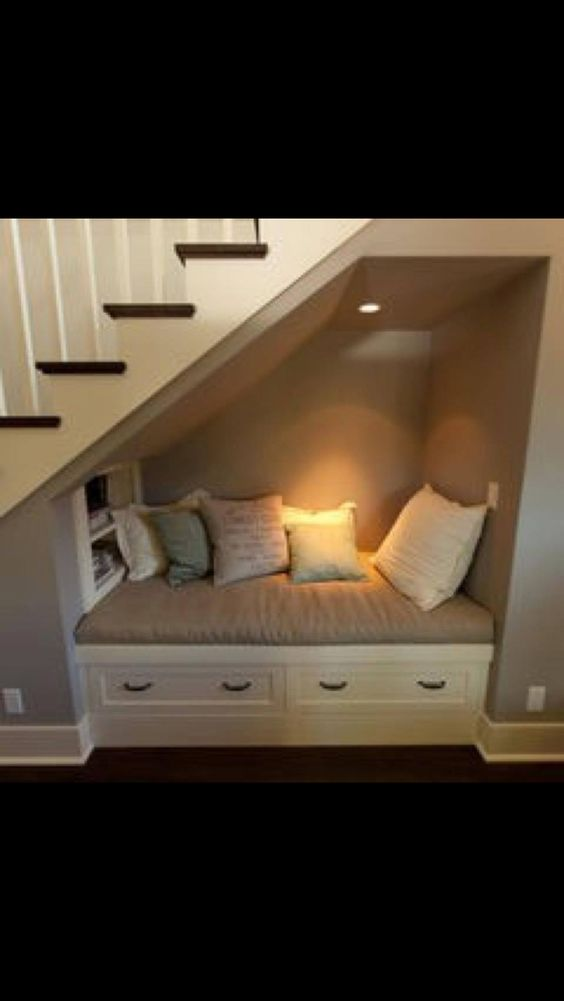 3. Storage and reading nook for kids and adults
