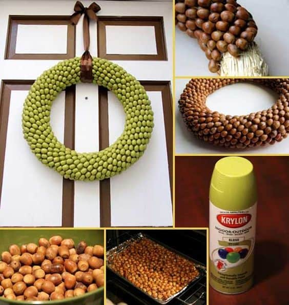 17. USE A MULTITUDE OF ACORNS IN A WREATH
