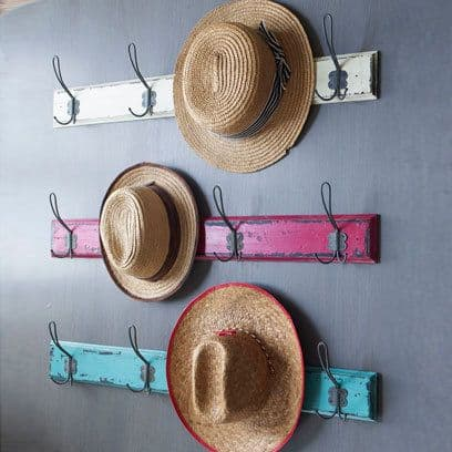 6. CLASSIC DISTRESSED WOOD AND HOOK