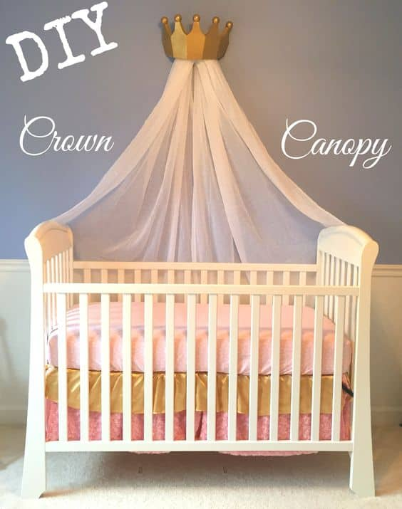 9. canopy crib made for a prince or a princess & 18 Crib Canopies Perfect For Your Nursery Design - Homesthetics ...