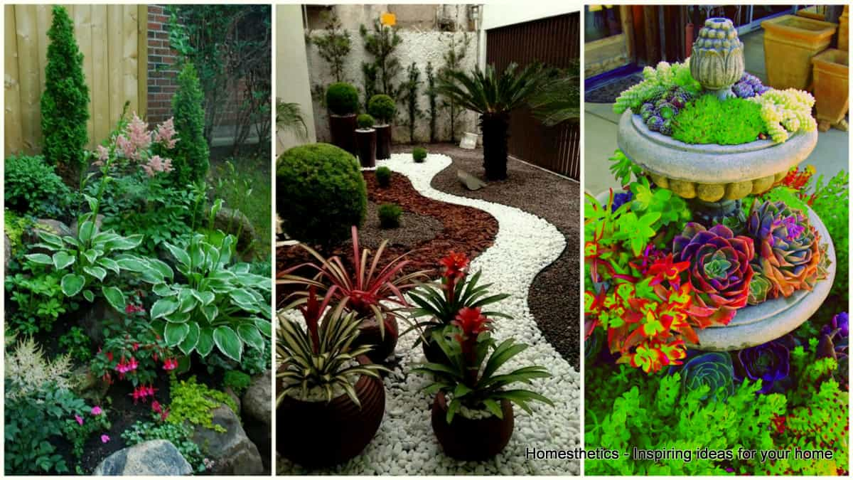 17 small front yard landscaping ideas to define your curb for Small garden design ideas with lawn