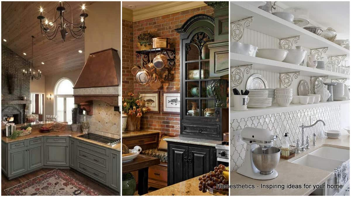 Majestic French Country Kitchen Designs - Homesthetics
