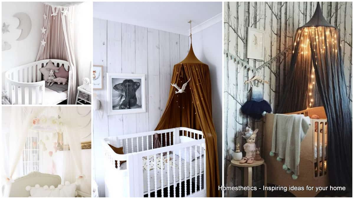 18 Crib Canopies Perfect For Your Nursery Design & 18 Crib Canopies Perfect For Your Nursery Design - Homesthetics ...