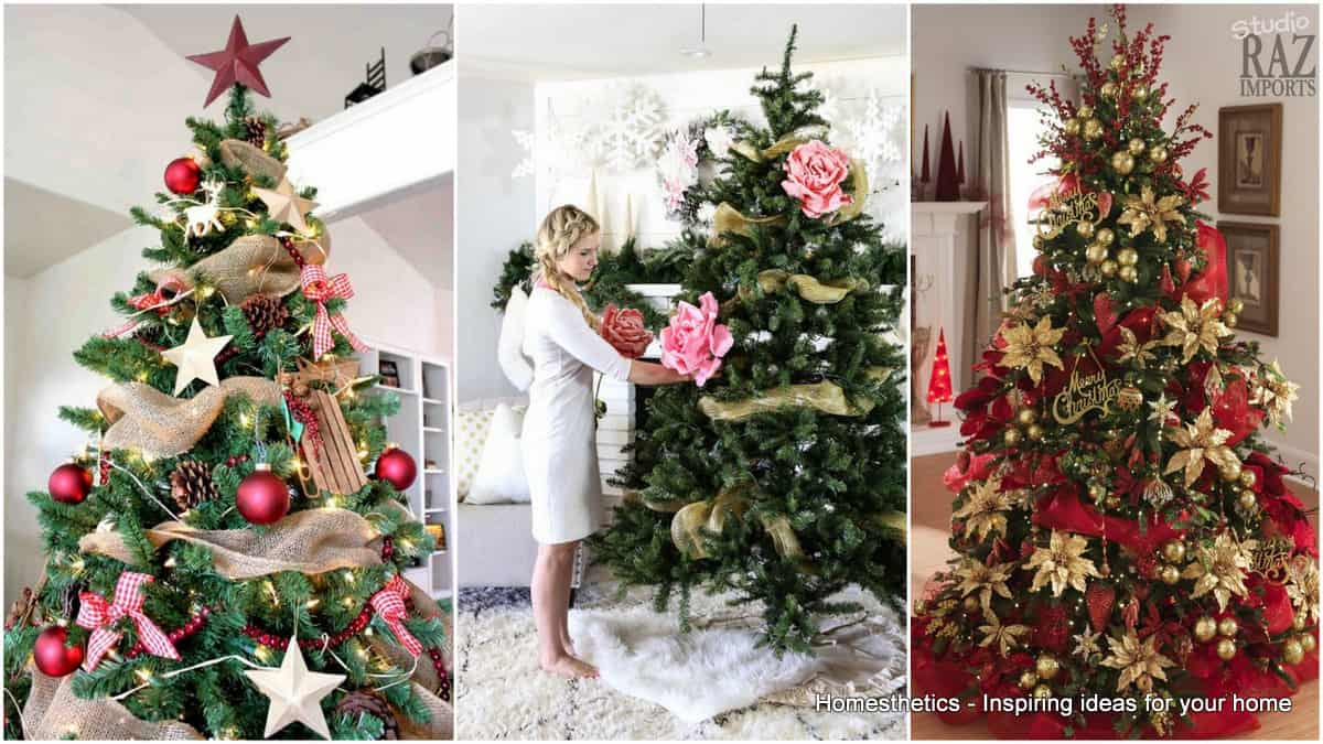 17 stunning red and gold christmas trees to welcome winter for Red gold christmas tree decorating ideas