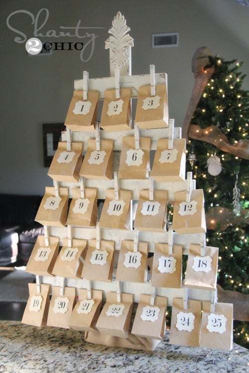 16 an advent calendar christmas tree