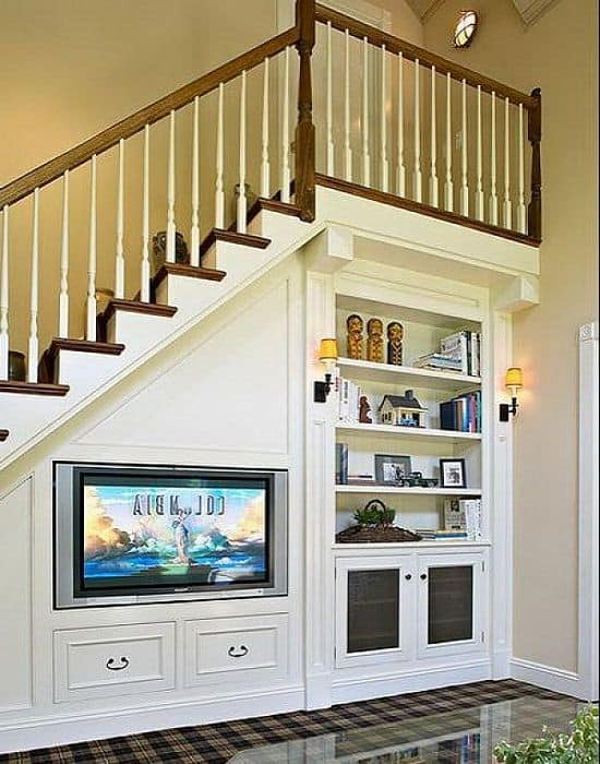11. multi-purpose and clever under stair storage