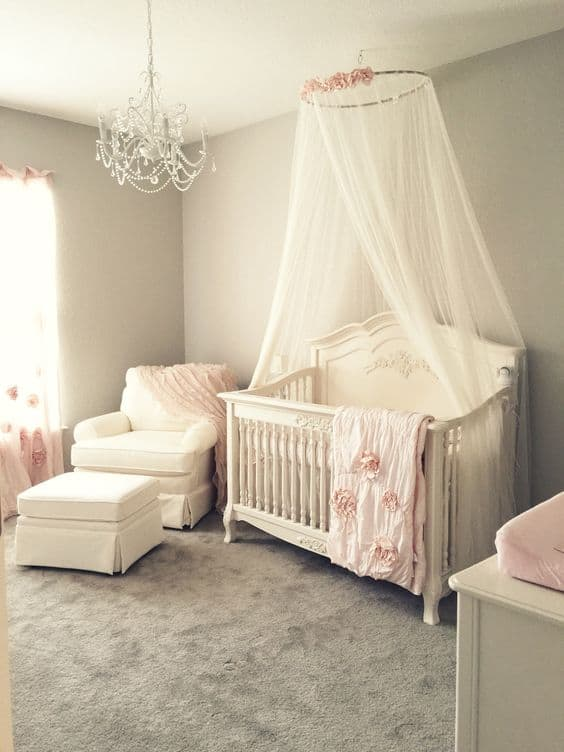 5 Always Lovely In Soft Pink Crib Canopy