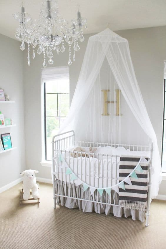 18 crib canopies perfect for your nursery design for Baby cot decoration ideas